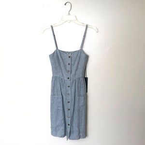 Urban Outfitters Blue-Gray Button Down Dress